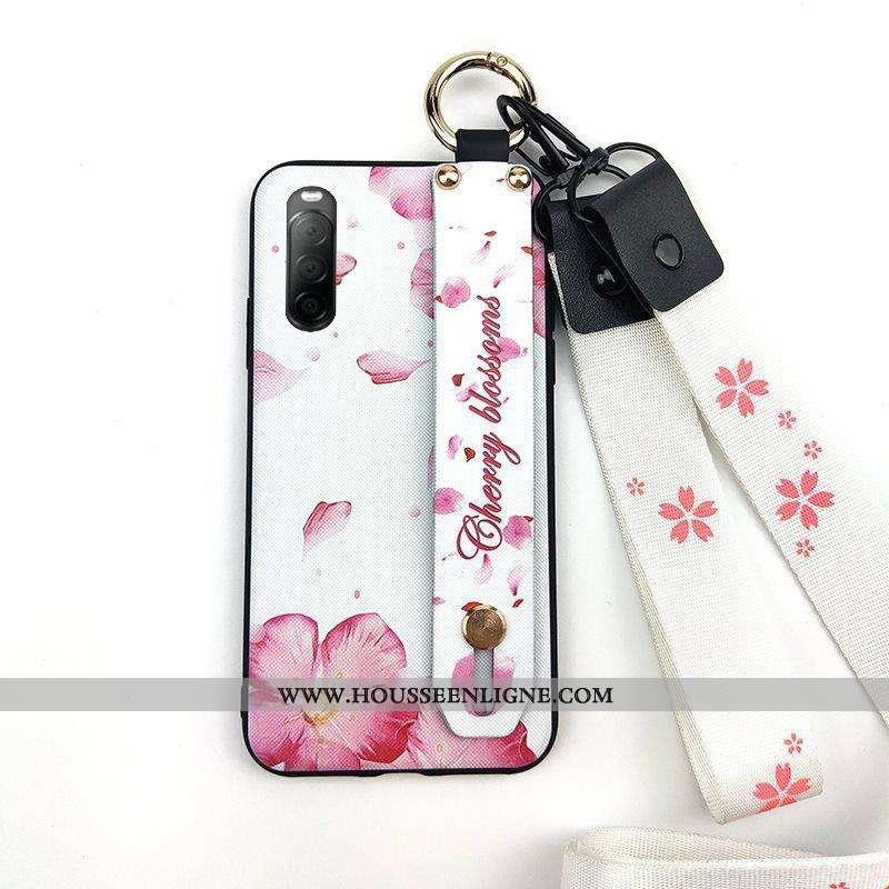 Coque Sony Xperia 10 Ii Ornements Suspendus Fluide Doux Fleur Téléphone Portable Support Protection