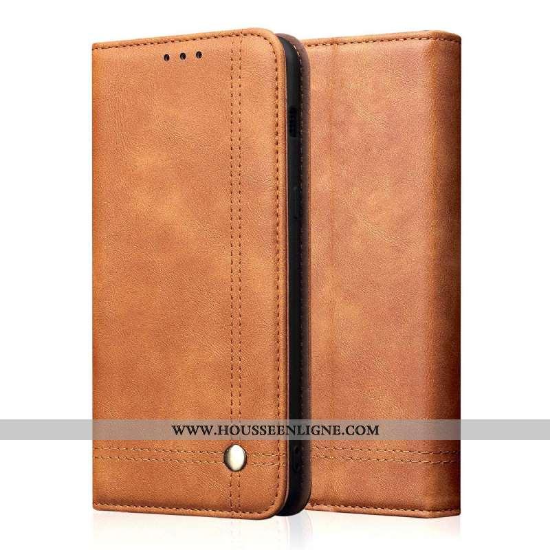 Coque Sony Xperia 10 Modèle Fleurie Protection Portefeuille Carte Cuir Téléphone Portable Marron