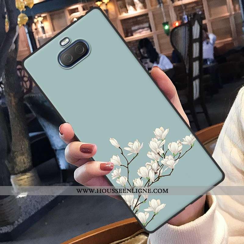 Coque Sony Xperia 10 Plus Charmant Fluide Doux Protection Dessin Animé Étui Silicone Bleu