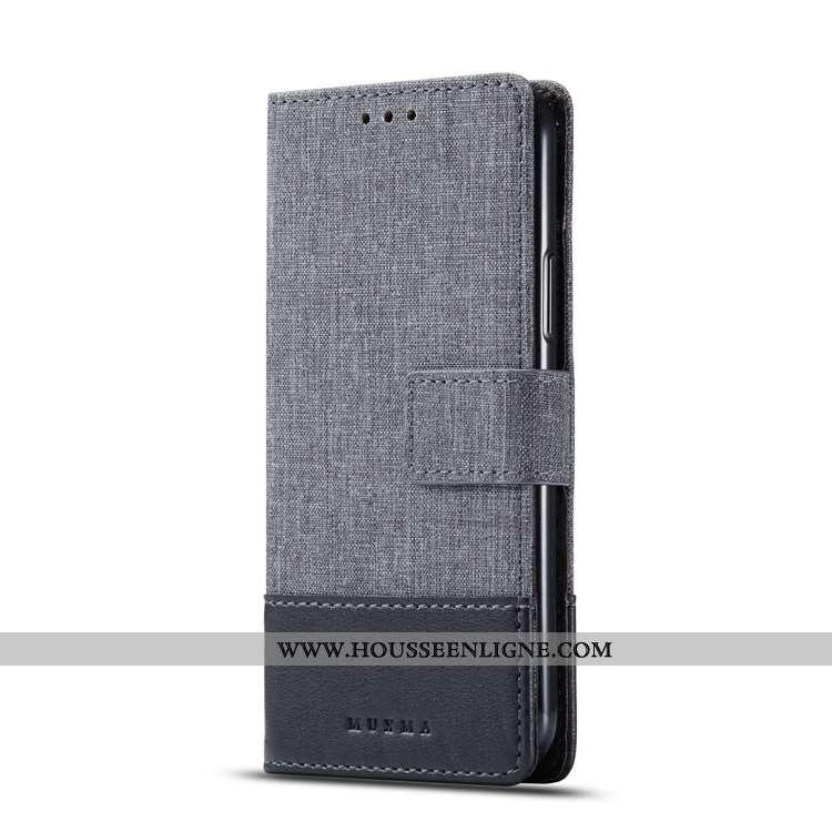 Coque Sony Xperia 10 Plus Cuir Modèle Fleurie Housse Gris Carte Étui