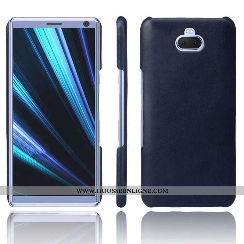 Coque Sony Xperia 10 Plus Cuir Protection Téléphone Portable Incassable Délavé En Daim Qualité Étui