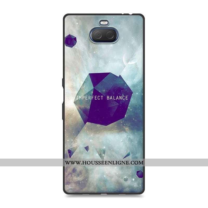 Coque Sony Xperia 10 Plus Fluide Doux Silicone Protection Téléphone Portable Paysage Peinture Gris