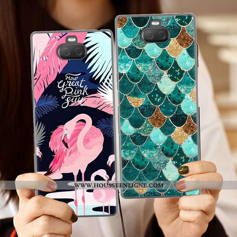 Coque Sony Xperia 10 Plus Silicone Créatif Vert Fluide Doux Téléphone Portable Étui Verte