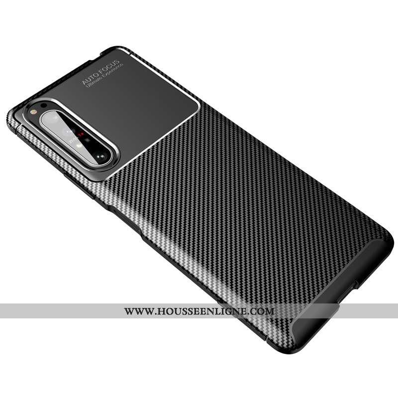 Coque Sony Xperia 5 Protection Délavé En Daim Noir Fluide Doux Incassable Fibre Modèle Fleurie