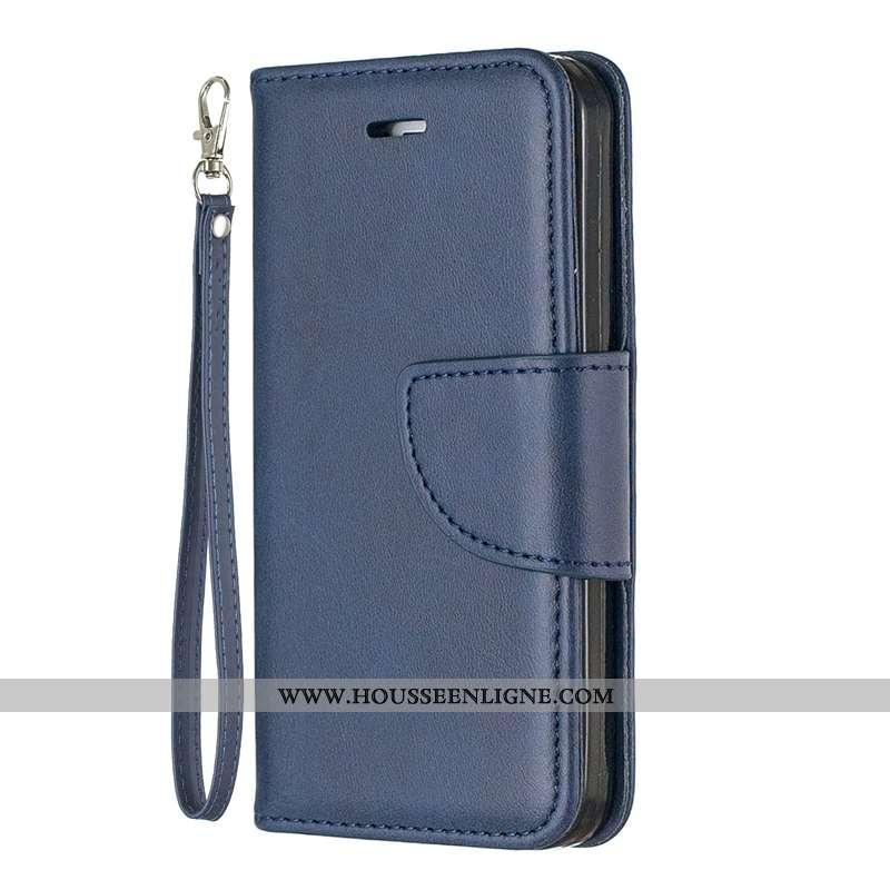 Coque Sony Xperia L1 Cuir Protection Business Téléphone Portable Carte Housse Bleu Foncé