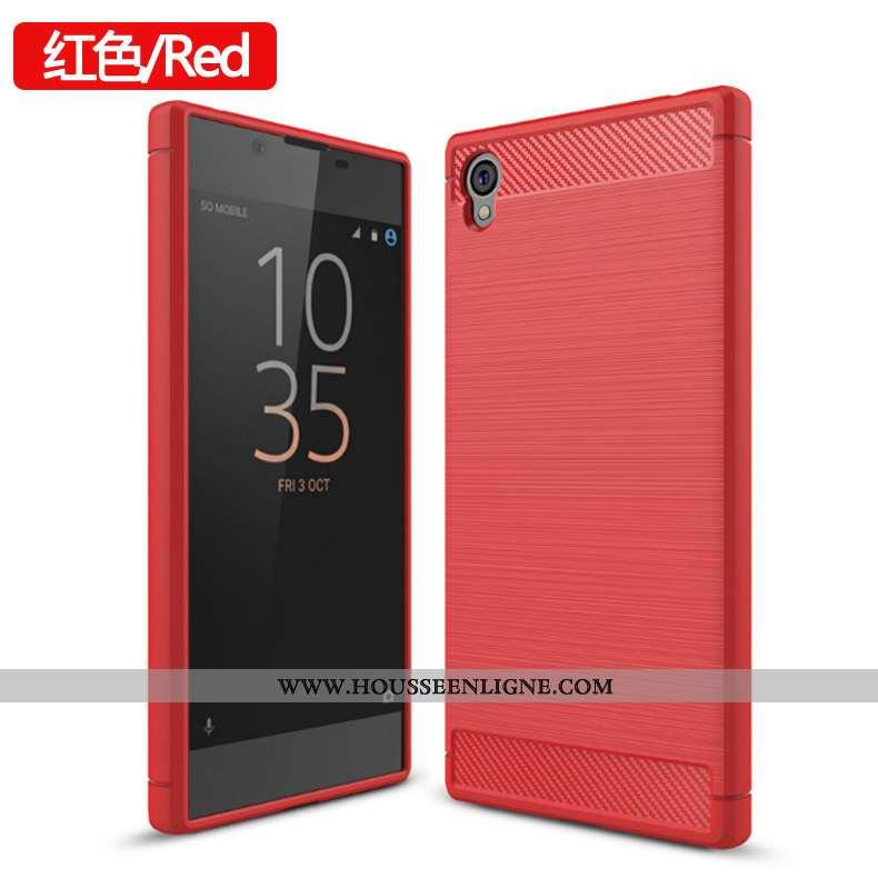 Coque Sony Xperia L1 Fluide Doux Protection Téléphone Portable Étui Rouge Tout Compris