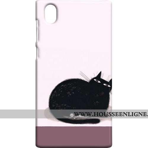 Coque Sony Xperia L1 Protection Délavé En Daim Rose Téléphone Portable Étui Difficile