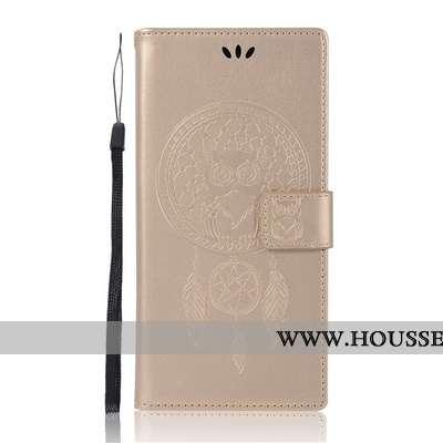 Coque Sony Xperia L1 Protection Portefeuille Or Téléphone Portable Étui Carte Doré