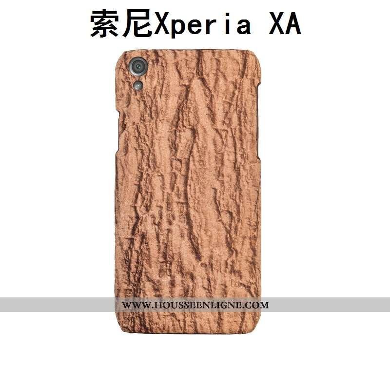 Coque Sony Xperia Xa Cuir Protection Téléphone Portable Personnalisé Couvercle Arrière Kaki Arbres K