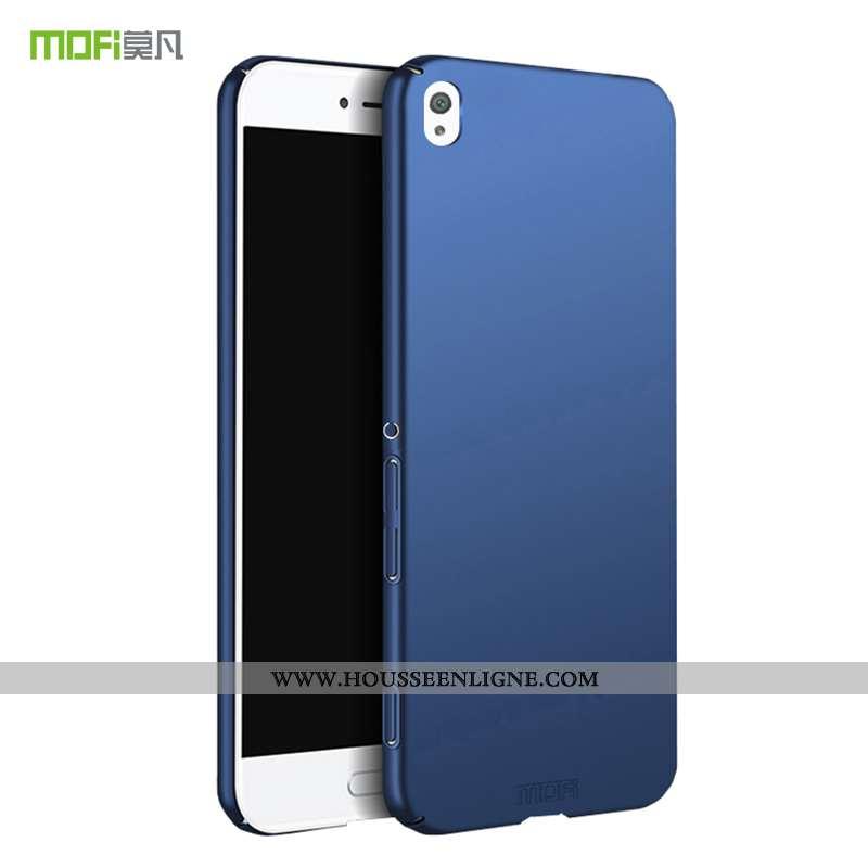 Coque Sony Xperia Xa Légère Protection Tout Compris Délavé En Daim Étui Téléphone Portable Bleu