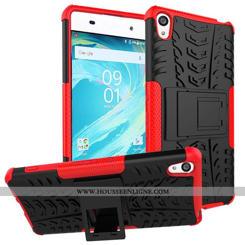 Coque Sony Xperia Xa Protection Cuir Rouge Étui Incassable Téléphone Portable