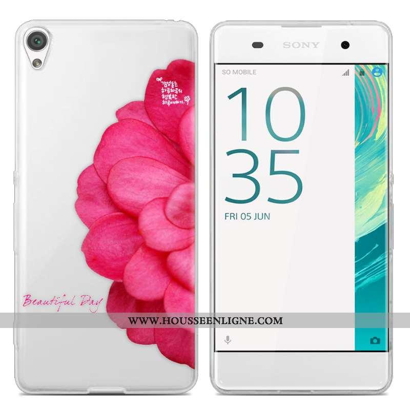 Coque Sony Xperia Xa Tendance Transparent Téléphone Portable Peinture Étui Incassable Créatif Rose