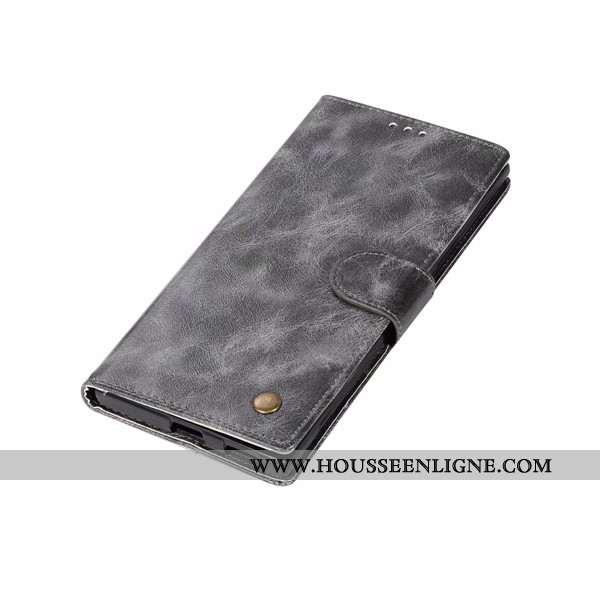 Coque Sony Xperia Xa Ultra Protection Portefeuille Cuir Étui Gris Housse Téléphone Portable