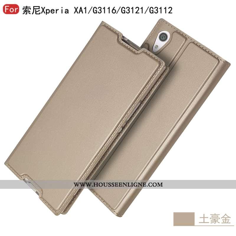 Coque Sony Xperia Xa1 Mode Protection Étui Business Or Téléphone Portable Doré