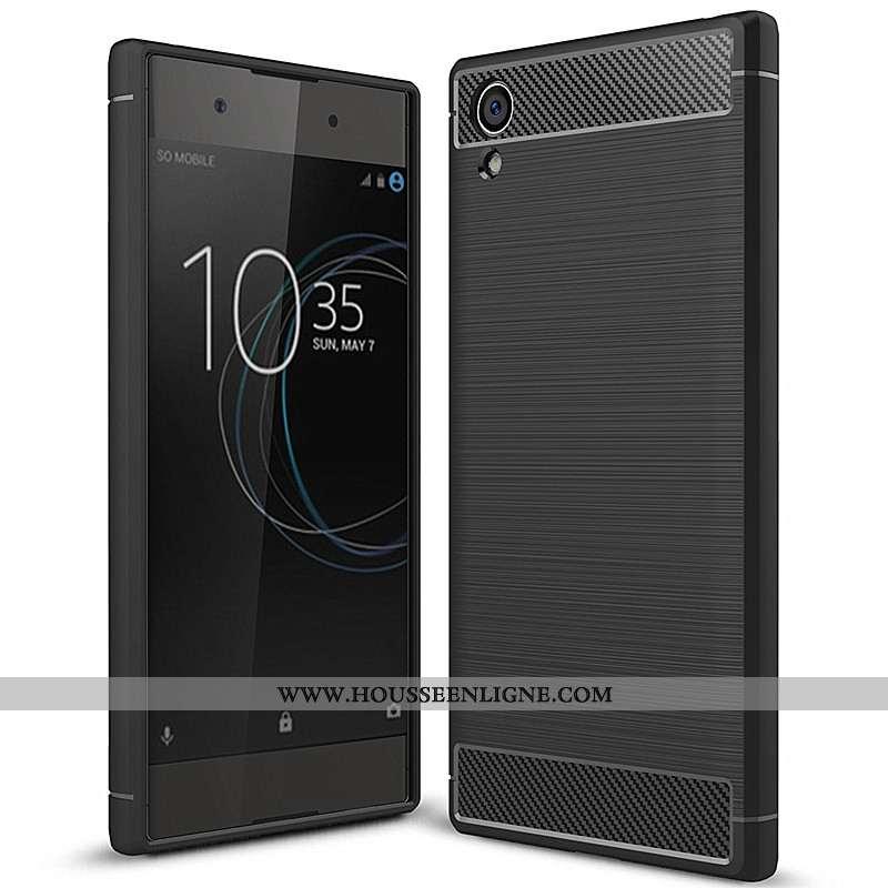 Coque Sony Xperia Xa1 Plus Fluide Doux Mode Tout Compris Fibre Simple Téléphone Portable Noir