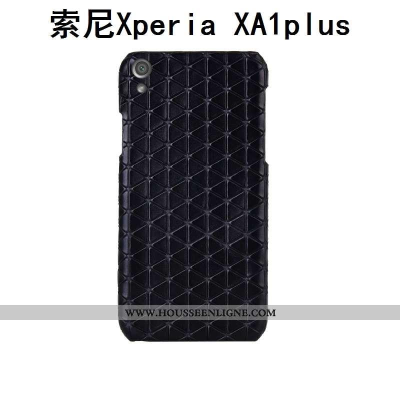 Coque Sony Xperia Xa1 Plus Luxe Personnalité Couvercle Arrière Personnalisé Créatif Noir
