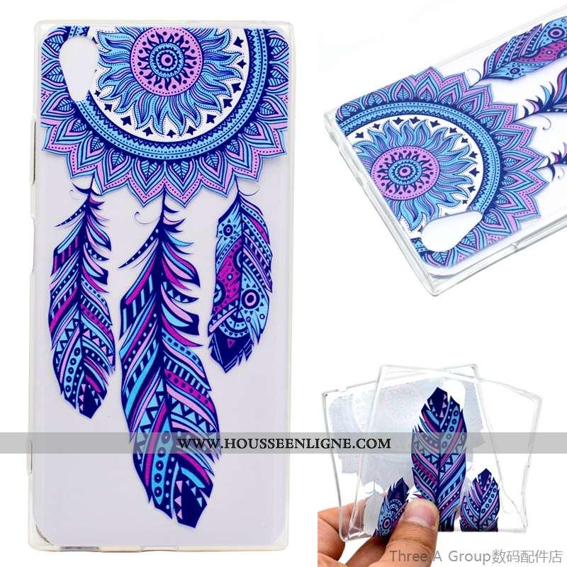 Coque Sony Xperia Xa1 Plus Protection Bleu Téléphone Portable Étui
