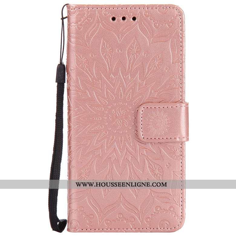 Coque Sony Xperia Xa1 Protection Portefeuille Rose Téléphone Portable Étui Cuir