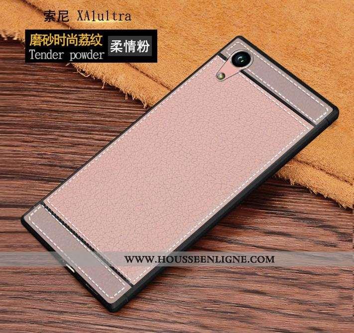 Coque Sony Xperia Xa1 Ultra Personnalité Fluide Doux Tout Compris Rose Téléphone Portable Protection