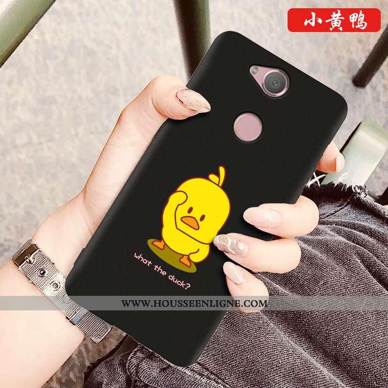 Coque Sony Xperia Xa2 Plus Dessin Animé Silicone Téléphone Portable Nouveau Noir Protection