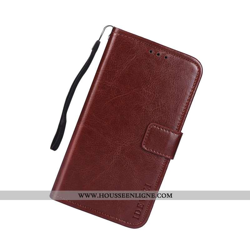Coque Sony Xperia Xa2 Plus Protection Cuir Marron Téléphone Portable Étui Housse