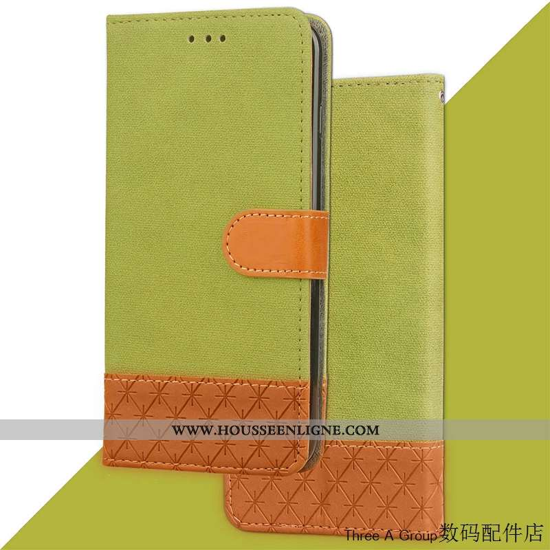 Coque Sony Xperia Xa2 Ultra Cuir Personnalité Créatif Vert Téléphone Portable Étui Carte Verte