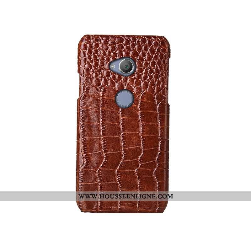 Coque Sony Xperia Xa2 Ultra Mode Protection Cuir Véritable Étui Couvercle Arrière Téléphone Portable