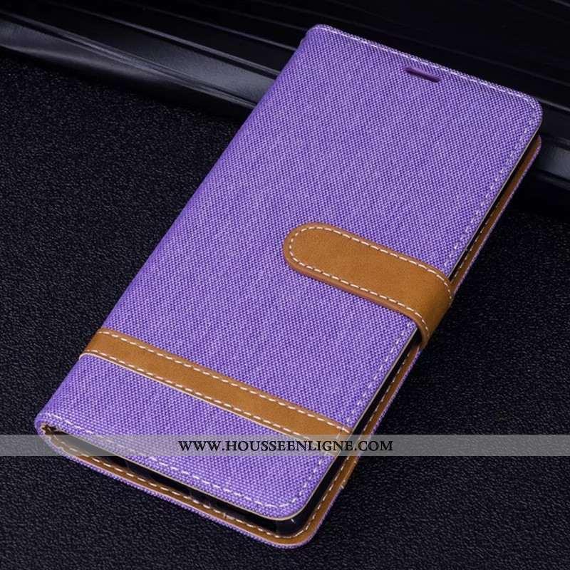 Coque Sony Xperia Xz Premium Protection Créatif Nouveau Étui Housse En Denim Violet