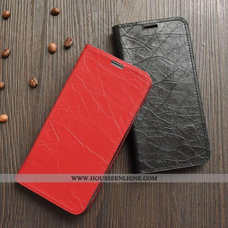 Coque Sony Xperia Xz1 Compact Légère Cuir Incassable Silicone Housse Protection Jours Rouge