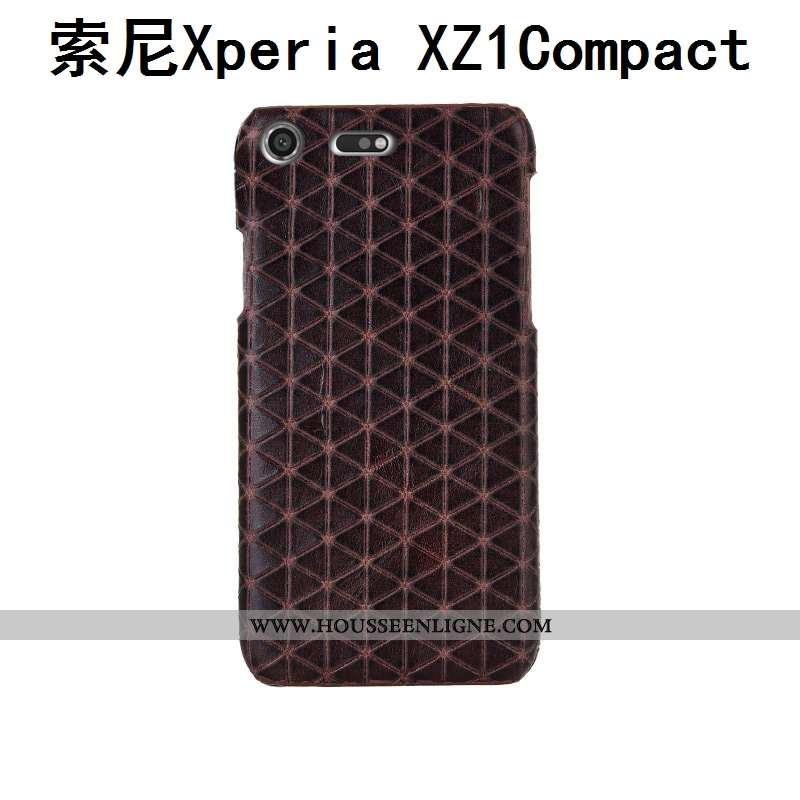 Coque Sony Xperia Xz1 Compact Luxe Créatif Protection Étui Couvercle Arrière Incassable Téléphone Po