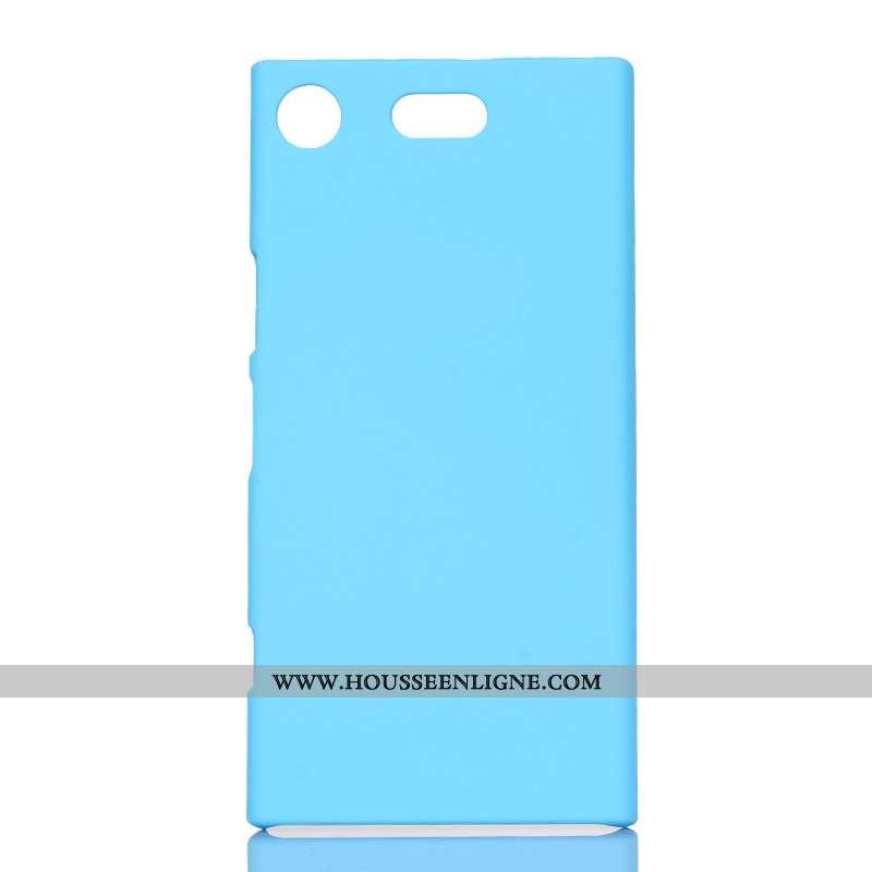 Coque Sony Xperia Xz1 Compact Protection Délavé En Daim Téléphone Portable Étui Bleu Difficile