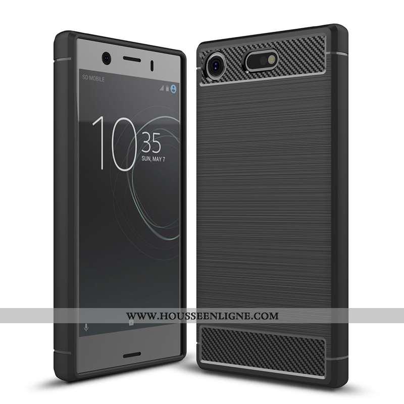 Coque Sony Xperia Xz1 Compact Protection Modèle Fleurie Fibre Silicone Téléphone Portable Incassable