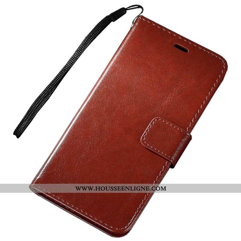 Coque Sony Xperia Xz1 Compact Protection Portefeuille Téléphone Portable Marron Cuir Housse Étui