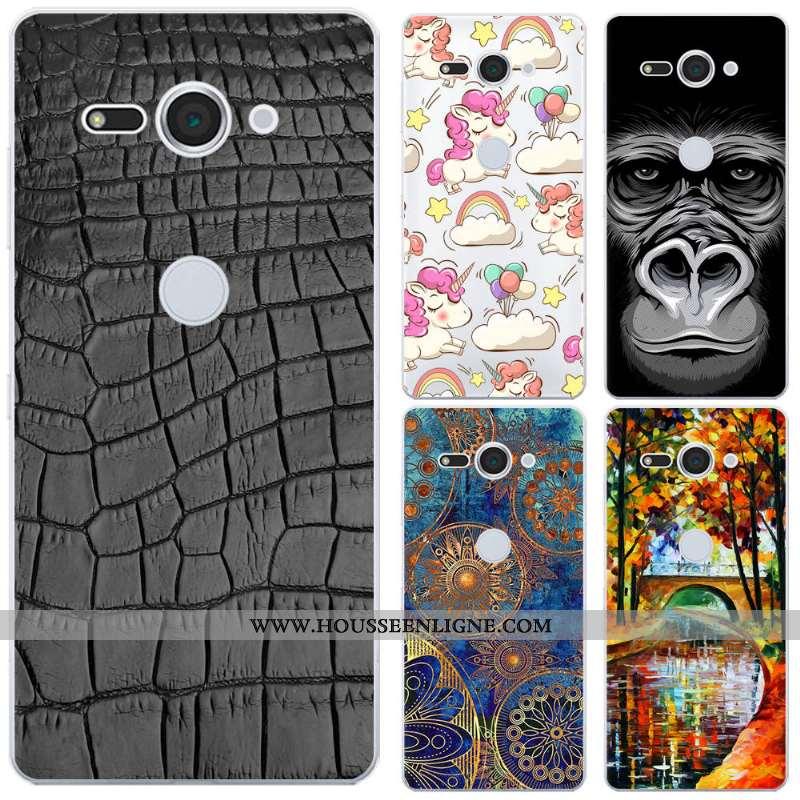 Coque Sony Xperia Xz2 Compact Créatif Silicone Téléphone Portable Étui Noir