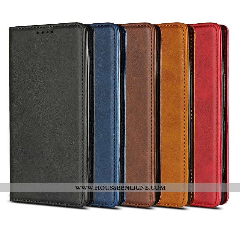 Coque Sony Xperia Xz2 Compact Cuir Protection Étui Noir Téléphone Portable