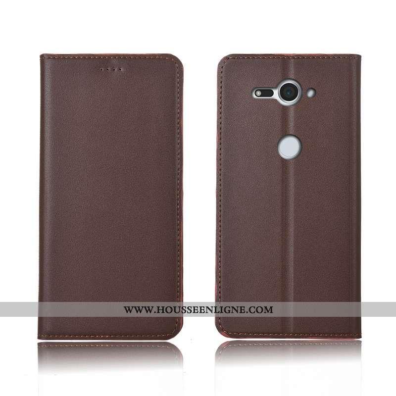 Coque Sony Xperia Xz2 Compact Fluide Doux Silicone Étui Marron Incassable Protection