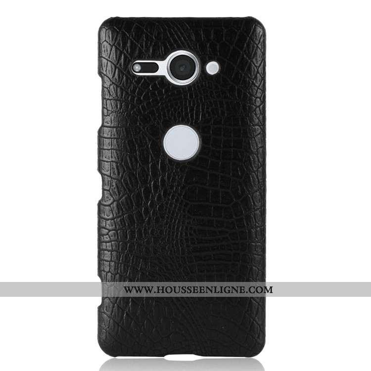 Coque Sony Xperia Xz2 Compact Modèle Fleurie Vintage Étui Difficile Noir Téléphone Portable Crocodil