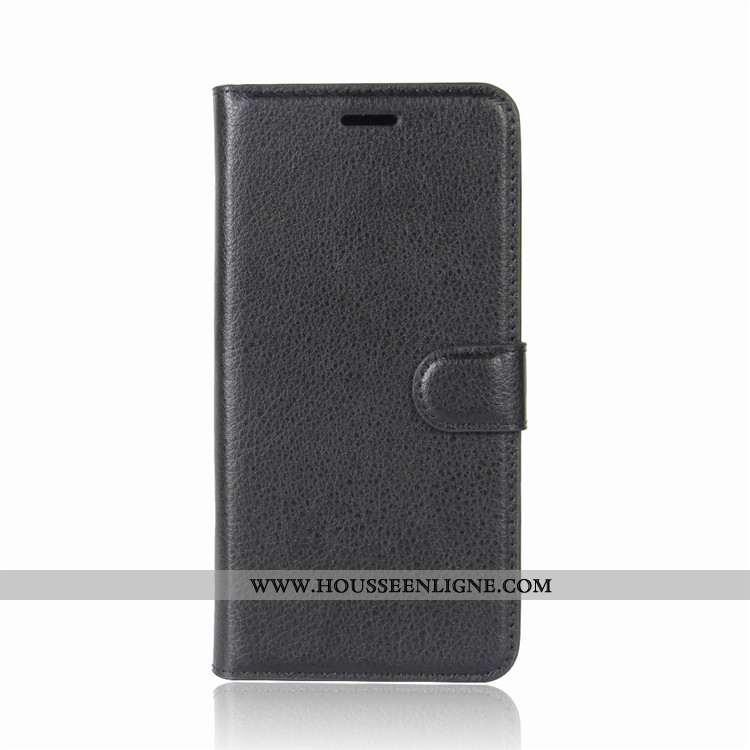 Coque Sony Xperia Xz2 Compact Protection Portefeuille Carte Cuir Étui Téléphone Portable Noir