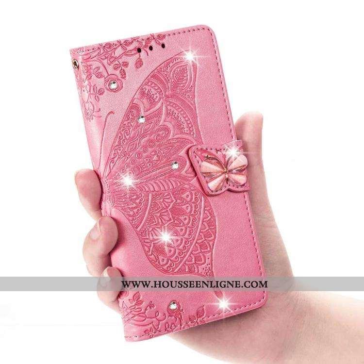 Coque Sony Xperia Xz2 Cuir Protection Incassable Étui Rose Tout Compris