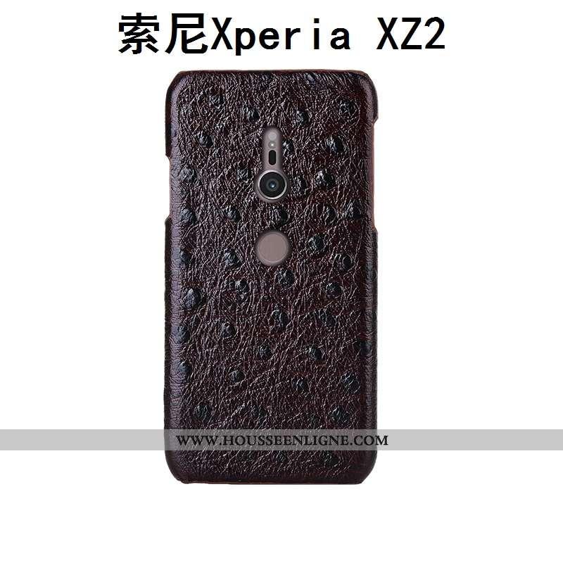 Coque Sony Xperia Xz2 Cuir Véritable Modèle Fleurie Mode Personnalisé Téléphone Portable Incassable