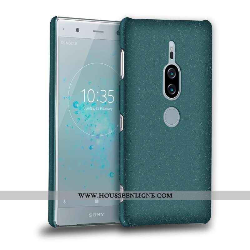 Coque Sony Xperia Xz2 Premium Délavé En Daim Vert Incassable Téléphone Portable Verte