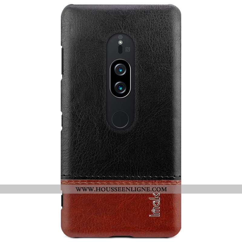 Coque Sony Xperia Xz2 Premium Protection Cuir Business Téléphone Portable Étui Nouveau Noir