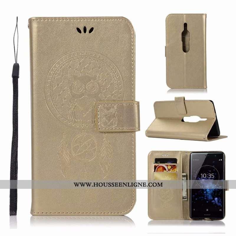 Coque Sony Xperia Xz2 Premium Protection Fluide Doux Étui Téléphone Portable Incassable Silicone Dor