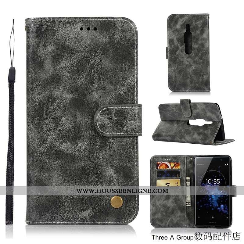 Coque Sony Xperia Xz2 Premium Protection Gris Téléphone Portable Tout Compris Housse Incassable
