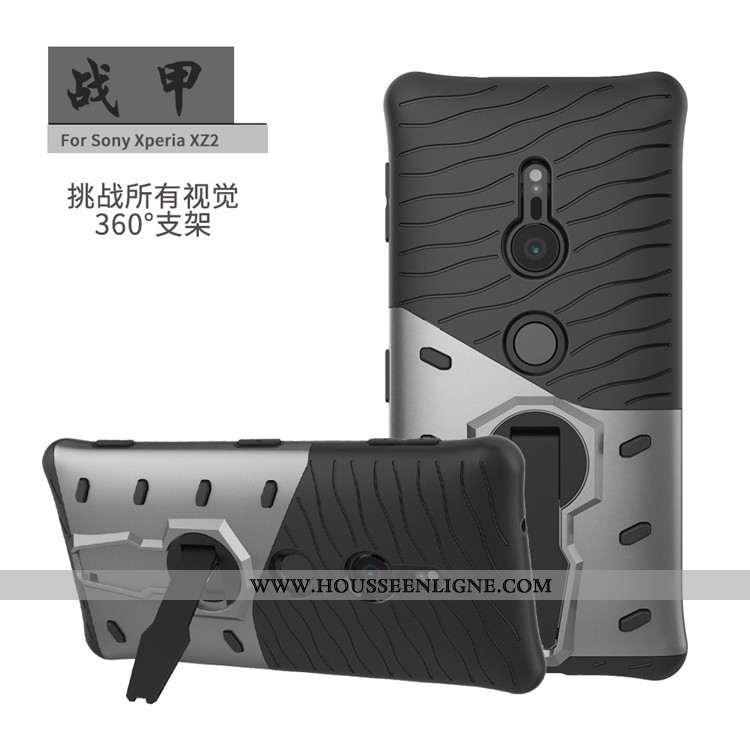 Coque Sony Xperia Xz2 Protection Téléphone Portable Support Noir Étui