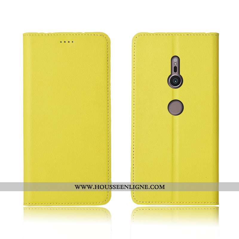Coque Sony Xperia Xz3 Cuir Fluide Doux Téléphone Portable Incassable Clamshell Protection Véritable
