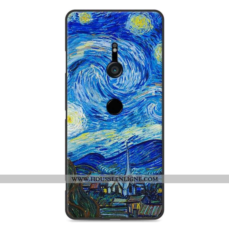 Coque Sony Xperia Xz3 Protection Fluide Doux Paysage Bleu Étui Incassable