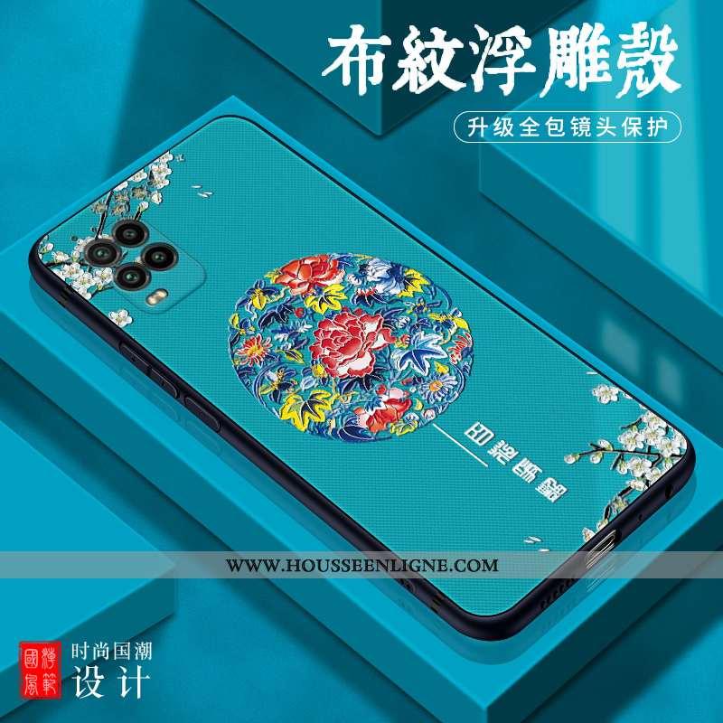 Coque Xiaomi Mi 10 Lite Légère Fluide Doux Tout Compris Créatif Étui Jeunesse Délavé En Daim Bleu