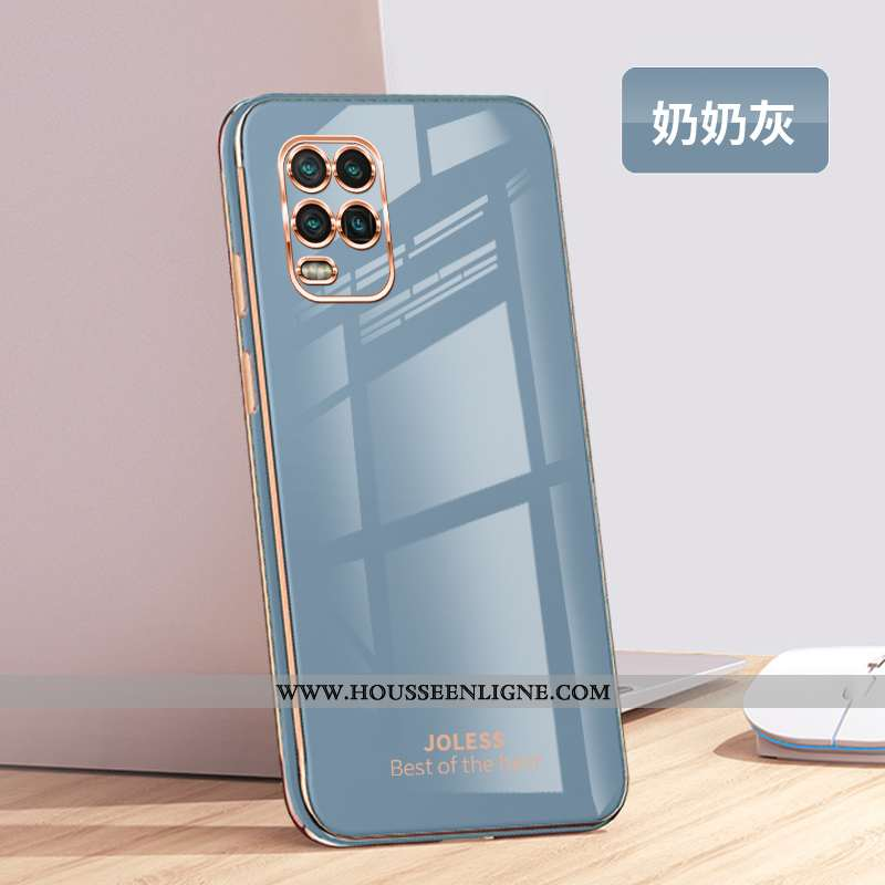 Coque Xiaomi Mi 10 Lite Mode Protection Jeunesse Fluide Doux Gris Tendance