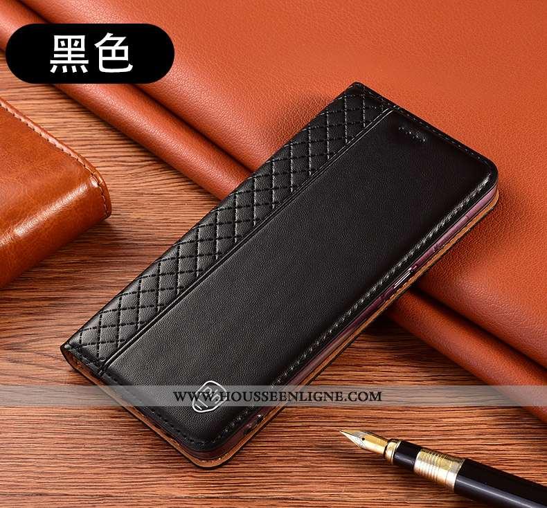 Coque Xiaomi Mi 10 Lite Protection Cuir Véritable Incassable Housse Tout Compris Jeunesse Noir